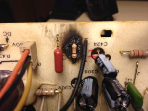 scorched resistor