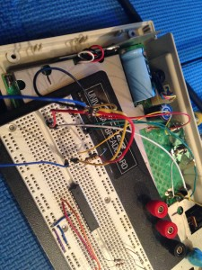 Breadboarding an SOT23-6 packaged chip was a small challenge but certainly not impossible.