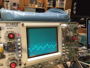 Oscilliscope reading (collector)